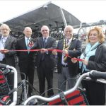 23/09/15 Unveiling of new cycle compound at Ely Station - Ely Railway Station, Ely 23/09/15    Launch of New Cycle Compound at Ely Railway Station   From Left County Cllr Michael Rous  Customer Engagement Officer Alan Neville County Cllr Ian Bates  Leader of East Cambs Council Michael Allan and his Wife Mary  Picture:Richard Patterson