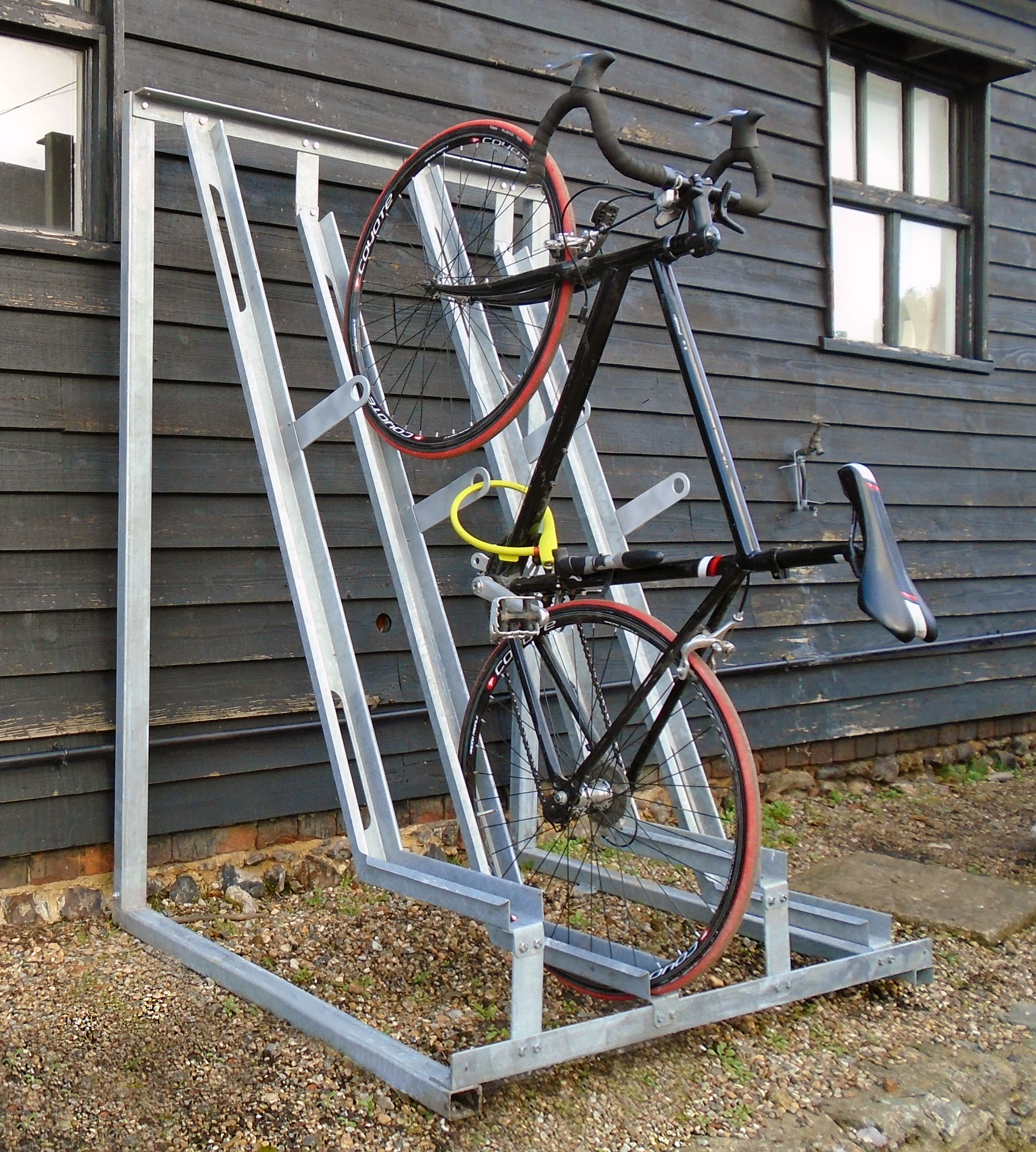 NEW: The Gatwick Secure Semi-Vertical Rack | Cyclepods Ltd