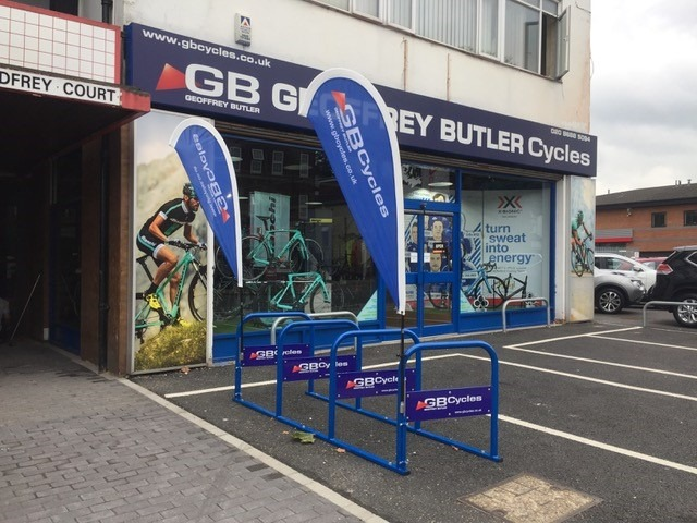 Bespoke branded Cycle storage for Croydon Businesses!