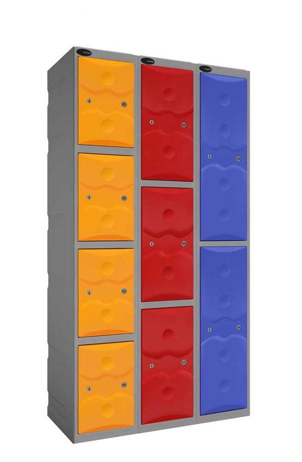 Three Door Plastic locker