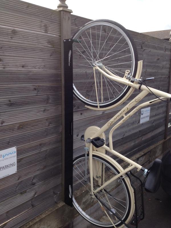 Westerham Vertical Bike Rack Cyclepods Ltd