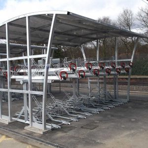 Double Brighton Two Tier bike Shelter