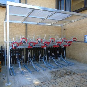 Cambridge Two Tier Cycle Shelter