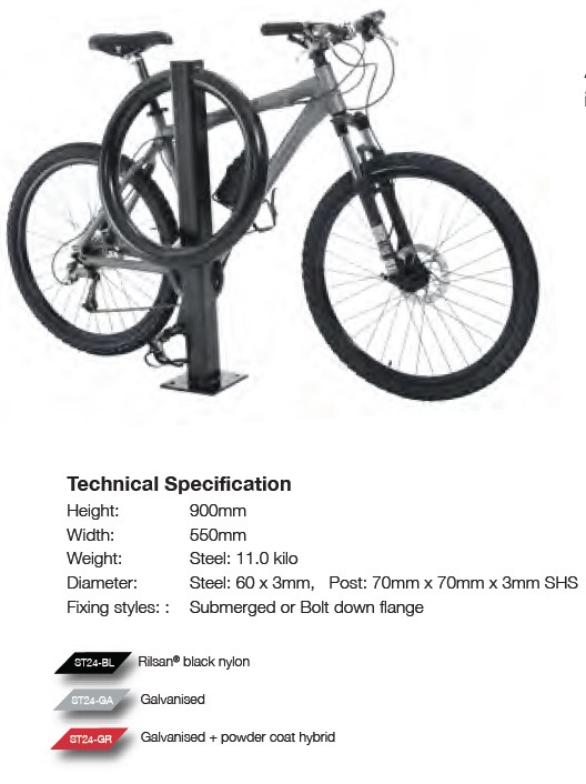 Large Bullring Bike Stand