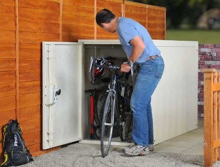 Horizontal TWIN secure bike locker AS