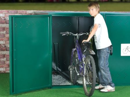 Horizontal bike locker AS