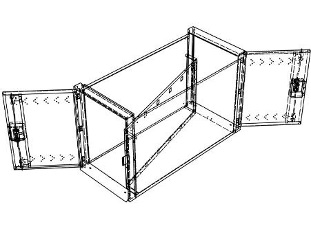 Horizontal double bike locker AS