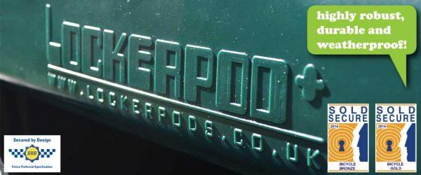 The Lockerpod+ Sold Secure Gold