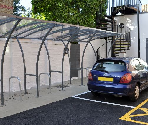 Padstow cycle shelter