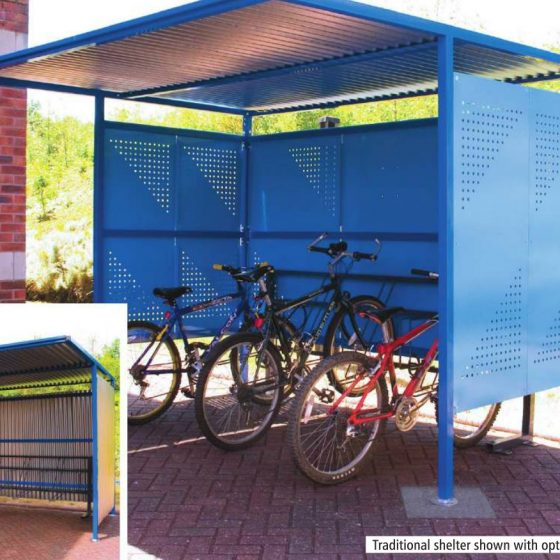 Traditional Bike Shelter