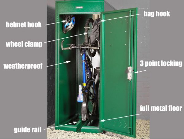 Vertical Bike Locker AS